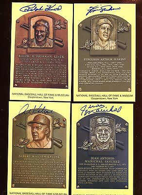 Yellow Hall of Fame Plaque Group of 9 Autographed Hologram