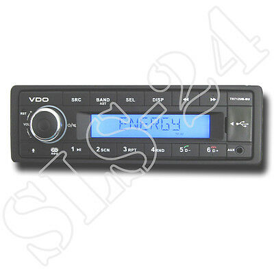 "VDO TR712UB-BU 12V Radio mit Bluetooth RDS USB MP3 Autoradio FM Tuner ""OHNE CD"""