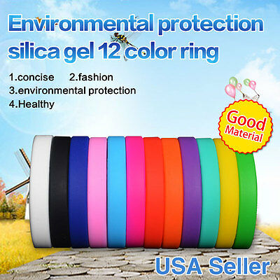 Custom Silicone Bracelets Rubber Wristband Multi color Rubber Bands Dozen Adult