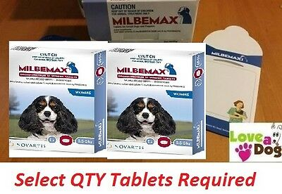 Milbemax Allwormer/All Wormer/Heartworm Tablets for Puppies/Small Dogs Up to 5kg