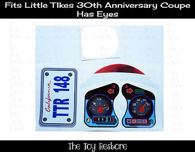 Replacement Decals fits 30th Little Tikes Cozy Coupe Car W Eyes California