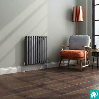 Anthracite Modern Horizontal Designer Oval Column Panel Bathroom Radiators
