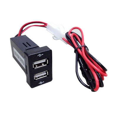 KS SS Dual USB Ports Dashboard Mount Fast Charger 1.2A 2.1A TOYOTA s SCION CAR