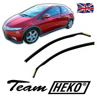 DHO17143 HONDA CIVIC mk8 3DOOR 2006-2012 WIND DEFLECTORS  2pc HEKO TINTED