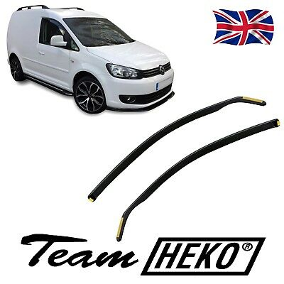 VW CADDY Mk3 2004-2016 SET OF FRONT WIND DEFLECTORS 2pc HEKO TINTED FITS ALL