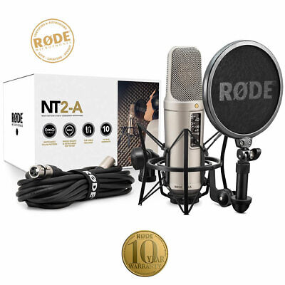 Rode NT2A Studio Condenser Microphone Bundle Complete Recording Package