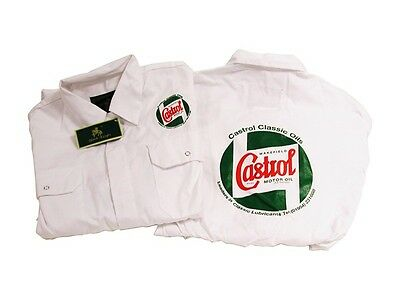 White Mechanic Overalls - 46 Inch Castrol Classic STR720-46 New