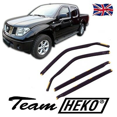 WIND DEFLECTORS  FOR NISSAN NAVARA D40 4DOOR 2005-2015 4pc HEKO TINTED