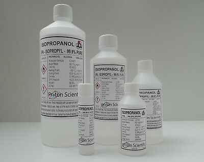 Isopropanol 99.9% Pure IPA Isopropyl Alcohol  ACS/LAB Grade Choose from 5 Sizes