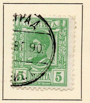 Serbia 1890 Early Issue Fine Used 5p. 147525