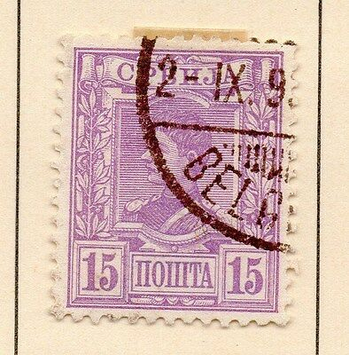 Serbia 1890 Early Issue Fine Used 15p. 147527