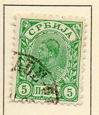 Serbia 1894 Early Issue Fine Used 5p. 147531