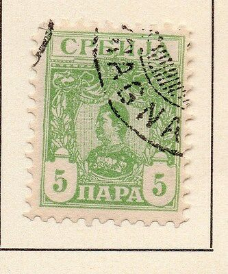 Serbia 1901-03 Early Issue Fine Used 5p. 147541