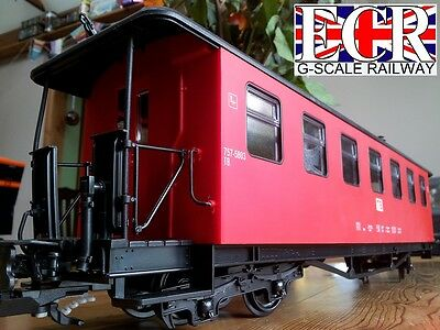 G Scale Gauge Railway Passenger Red Carriage Garden Rolling Stock Coach Train