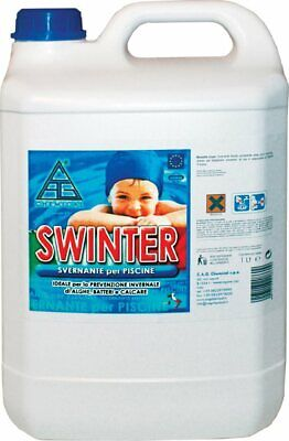CHEMICAL Svernante Piscina 5 Lt Antibatterico Alghicida Anticalcare Swinter