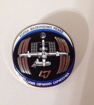 New NASA Space Program Expedition 47 Mission Pin International Space Station