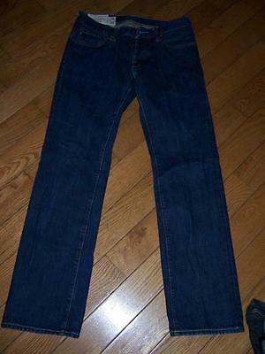 Mens Abercrombie & Fitch Remsen Low Rise Slim Straight Jean Waist 28 Length 30