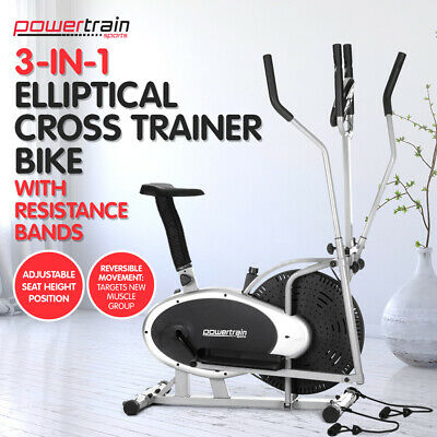 NEW Powertrain 5in1 Elliptical Cross Trainer Exercise Bike Equipment Home Gym