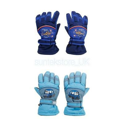 Windproof Waterproof Kids Child Fleece Warm Thermal Snow Snowboard Ski Gloves