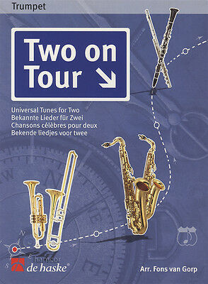 Two On Tour Easy Trumpet Duet Sheet Music Book