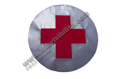 Patch Scudetto Toppa Rifr. Croce Rossa Italiana 27,5 Cm Ricamato - Red Cross