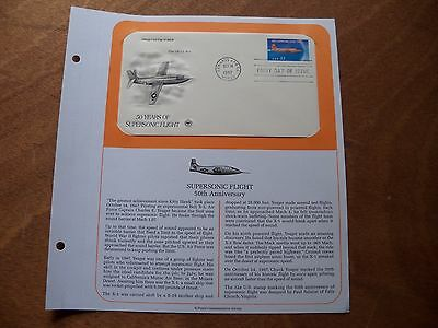 50 YEARS OF SUPERSONIC FLIGHT  First Day Issue PCS