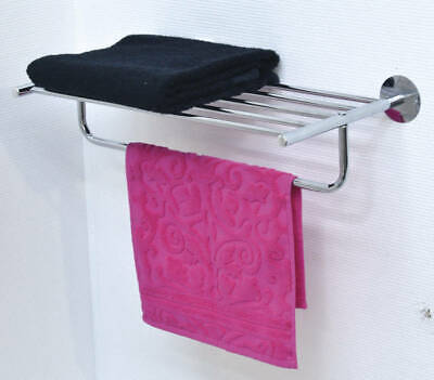 Evideco Wall Mounted Bath Wire Metal Shelf and Towel Rack Chrome