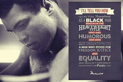 MUHAMMAD ALI BOXING MOTIVATIONAL POSTER (61x91cm)  PICTURE PRINT NEW ART