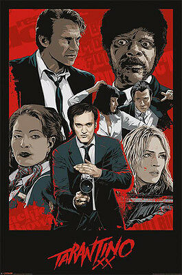 "Tarantino POSTER ""Pulp Fiction Travolta Ford Therman Collage"" NEW Licensed"