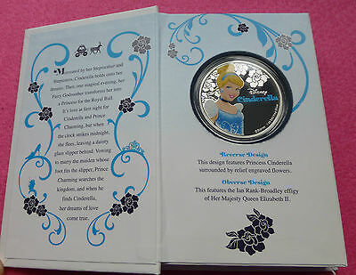 2015 Nuie Island  Cinderella Two Dollars $2 Silver Proof Coin - Unique Packaging