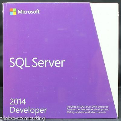 Microsoft SQL Server 2014 Developer Edition Full version of SQL 2014 E32-01098