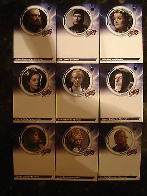 Blakes 7 - Series 1: Autograph Cards: Complete Set Of Unsigned Autograph Cards