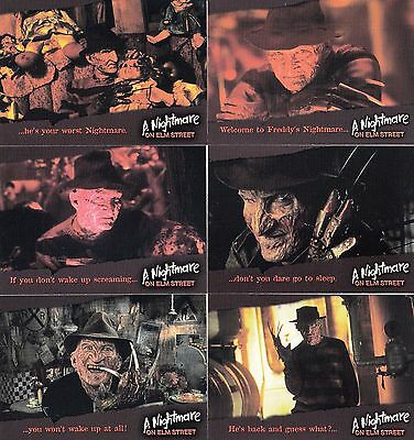 A Nightmare On Elm Street 2003 Cards Inc Complete Promo Preview Card Set Of 6