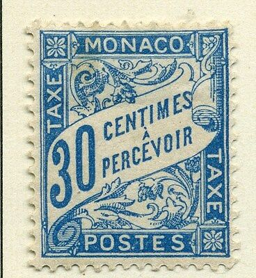 MONACO;  1905 early Postage Due issue fine Mint hinged value 30c.