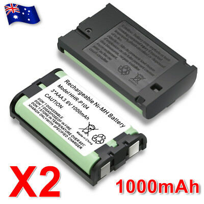 2X Battery FOR Panasonic HHR-P104 Cordless Phone Compatible Ni-MH 3.6V 1000mAh
