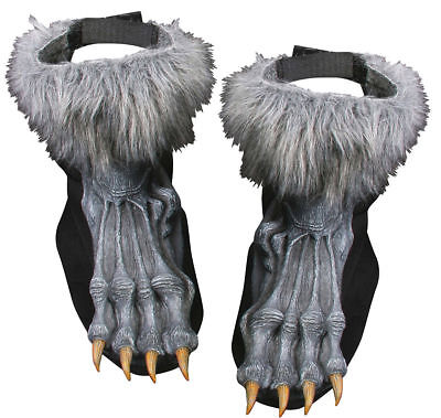 Morris Costumes Adult Unisex New Great Werewolf Grey Shoe Covers. FW90569GY
