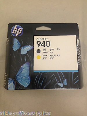 Original HP 940 Printhead Black & Yellow, Genuine HP C4900A Officejet 8000, 8500