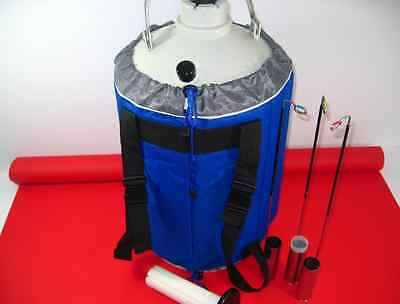 10L Liquid Nitrogen LN2 Storage Tank Static Cryogenic Container with Straps