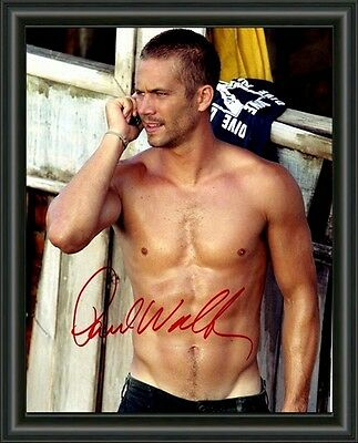 Paul Walker 4  Fast And Furious  A4 Signed Autographed Photo Poster  Free Post