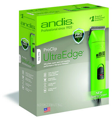 Andis Professional UltraEdge Clipper # 22585 SPRING GREEN ProClip AGC2 Two-Speed