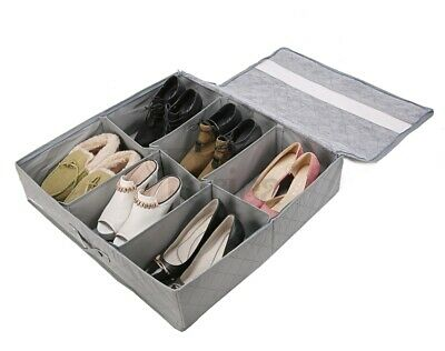 Periea underbed shoe storage organiser box STRONG with lid, storage solution