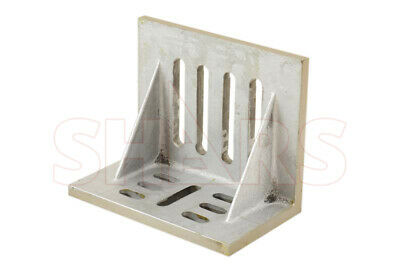 """Ground .0005"""" Webbed Slotted Angle Plate 10 x 8 x 6"""" High Tensile Cast Iron New"""