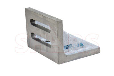 """Ground .0005"""" Webbed Slotted Angle Plate 6 x 5 x 4-1/2"""" High Tensile Cast Iron"""