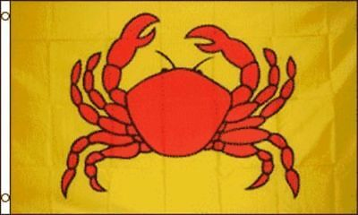 3x5 Advertising Crab Marketing Flag 3'x5' Crabby CrabClaw Banner Grommets