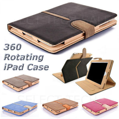 Shockproof Magnetic 360 Rotating Smart Cover Folio Wallet Case for Apple iPad
