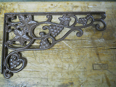 12 Cast Iron Antique Style GRAPES & VINE Brackets, Garden Braces Shelf Bracket