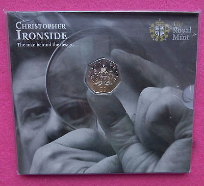 2013 Royal Mint Christopher Ironside 100Th Ann.  50P Bu Brand New  And Sealed