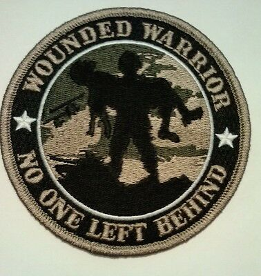 Wounded Warrior No One Left Behind Patch  4""