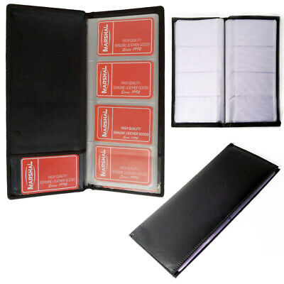 Genuine Leather Business Card Holder Book Organizer 160 Black Office Executives