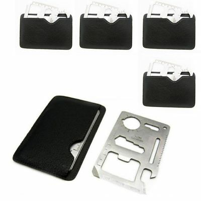 5 x Multi Tool Hunting Survival Camping Pocket Military Credit Card Knife 11in1
